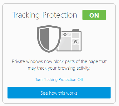 tracking protection enabled