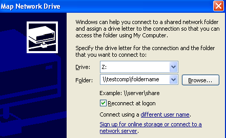 map network drive windows